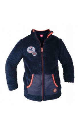 Red Horse Fluffy vest, Navy
